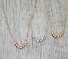 jj + rr - Faceted Bead Necklace Rose Gold