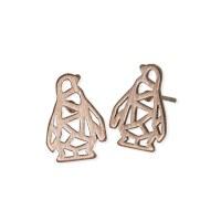 jj + rr Origami Penguin Earrings - Rosegold