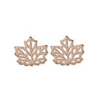 jj + rr Origami Leaf Earrings - Rose Gold