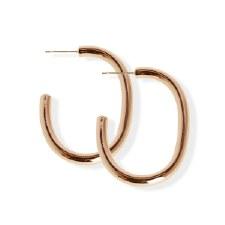 jj + rr Luxe Bold C Hoop Earring - Rose Gold