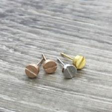 jj + rr - Brushed Screw Earrings - Gold
