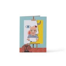 Noodoll Cubist Bookmark Card