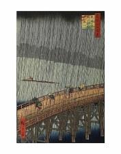 "Ando Hiroshige: Sudden Shower - 11"" x 14"""