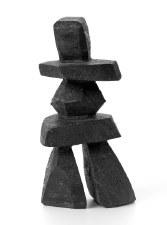 """Sculpture By Tukie Kellypalik: """"Inukshuk"""""""