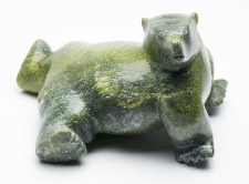 "Sculpture by Pitts Qimirpik:  ""Bear"""