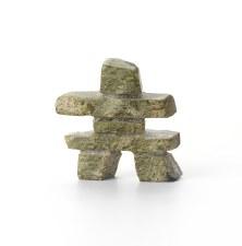 "Sculpture By Johnny Qauavau: ""Inukshuk"""