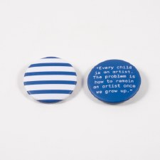 Picasso Quote and Stripes: Pin - Set of 2
