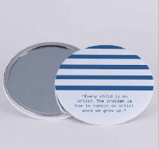 Picasso Quote and Stripes: Mirror