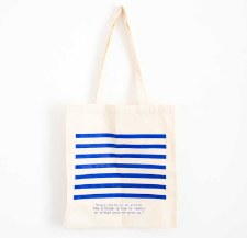 Picasso Quote and Stripes: Tote Bag
