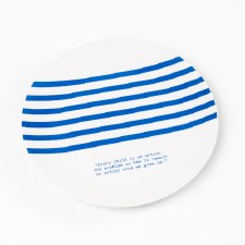 Picasso Quote and Stripes: Plate