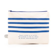 Picasso Quote and Stripes: Carryall Case