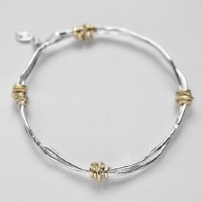 Joy Annett: Twist of Fate Bangle with Gold