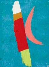 Jack Bush: Pink Moon Note Card