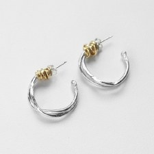 Joy Annett: Twist of Fate Small Hoops with Gold