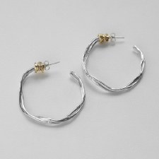 Joy Annett: Twist of Fate Large Hoops with Gold