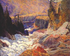 J. E. H. MacDonald:  Falls Montreal River, 1920  - Art Block Format