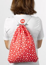 Yayoi Kusama: String Backpack Red with White Dots