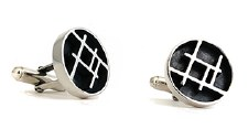 Lesley Ashton: 'Grid' Cufflinks