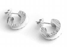 Lesley Ashton: 'Rough Cut' Stud Earrings