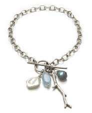 Laura Serrafero: Bracelet with Twig and Gemstones