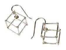 Elizabete Ludviks: 1 Cube Earring - Silver