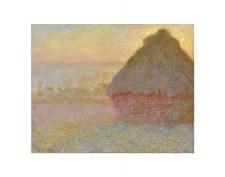 "Claude Monet: Grainstack (Sunset) - 11"" x 14"""