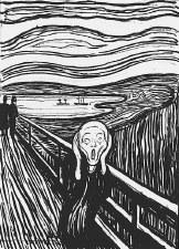 "Edvard Munch:The Scream ( Serigraph) - 11"" x 14"""