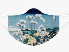 Loqi - Hokusai, Fuji Gotenyama Face Mask