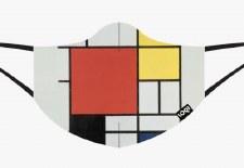 Loqi - Mondrian, Composition Face Mask