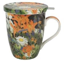 Tom Thomson: Marguerites Tea Mug w/ Infuser and Lid