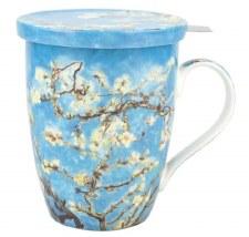Vincent Van Gogh: Almond Blosson Tea Mug w/ Infuser and Lid