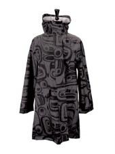 Raven Transforming Rain Coat - Charcoal S/M