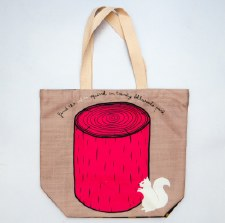 Persnickety White Squirrel Tote