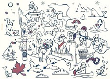 Canada Colouring Placemat