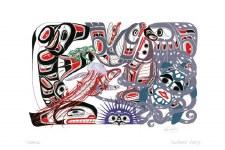 Richard Shorty: Oceanic Matted Print