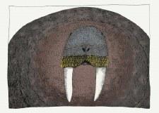 Ningiukulu Teevee: Imposing Walrus Matted Print