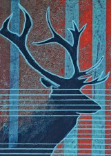 Bill Hensley: Bulk Elk Matted Print