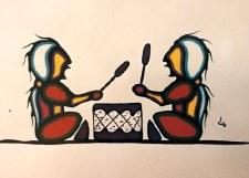 David Brooks: Drummers Matted Print