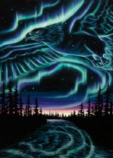 Amy Keller-Rempp: Sky Dance - Eagles Over The Sky Matted Print
