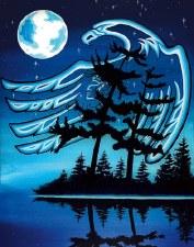 William Monague: Blue Moon Matted Print