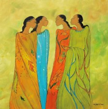 Maxine Noel: The Meeting Matted Print