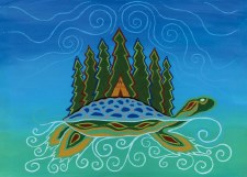 Patrick Hunter: Turtle Island Matted Print