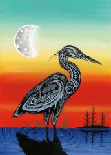 Red George: Crane Clan Matted Print