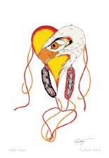 Richard Shorty: Eagle Heart Matted Print