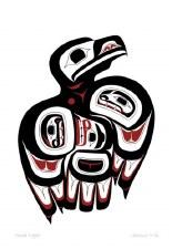 Clarence Mills: Haida Eagle Matted Print