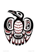 Clarence Mills: Haida Raven Matted Print