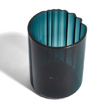 Zaha Hadid Pulse Vase Wide Teal