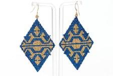 Suzy Kies: Blue Gold Woodlands Earring