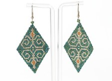 Suzy Kies: Green Gold Woodlands Earring