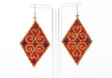 Suzy Kies: Orange Gold Woodlands Earring